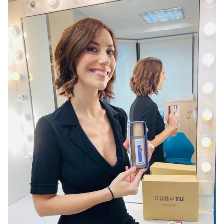 Cristina Gallego con Kun-tu Cosmetics